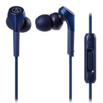 Audio Technica/鐵三角 藍色 ATH-CKS550XIS 重低音手機通話入耳式耳機